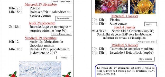 Le programme de fin d'année (spécial 11-15 ans)