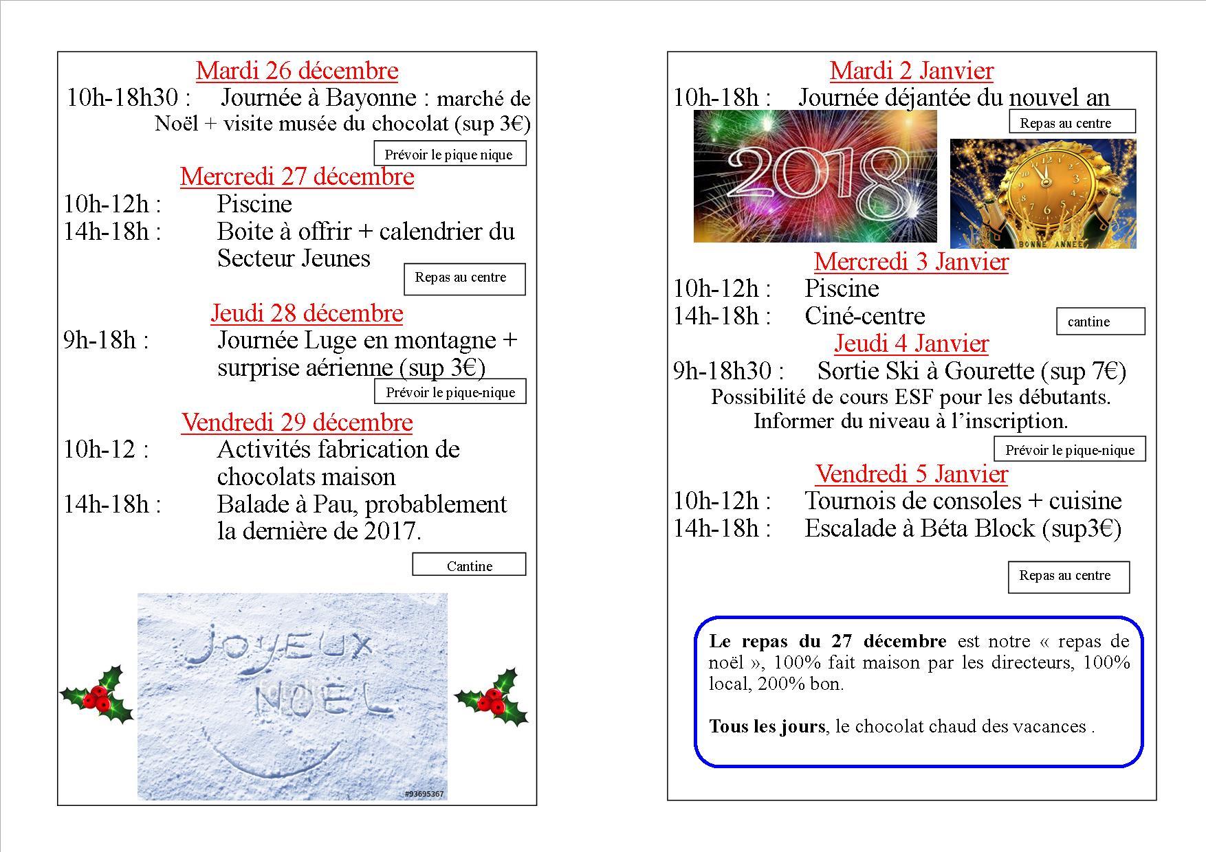 prog noel 2017 new
