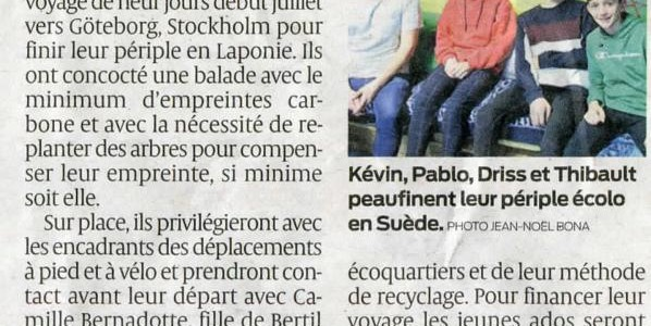 Article Projet Suede … SUD OUEST