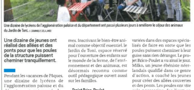Ateliers jeunes / Article La République