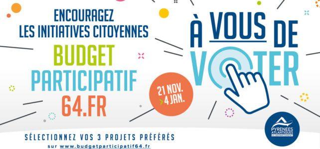 """Budget Participatif 64 : à vous de voter! Pour notre projet n°1-396 """"TOUS aux JARDINS"""" ;)"""